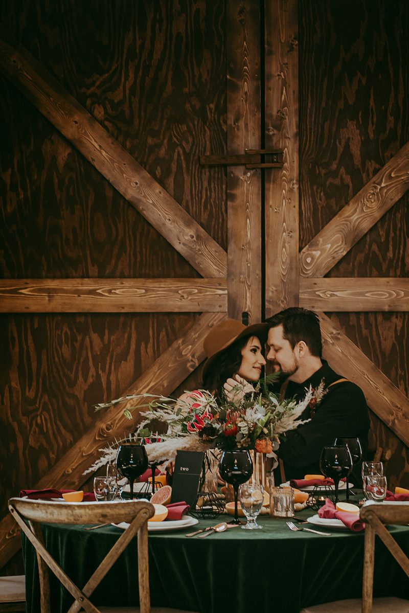 Moody Bohemian Whitewood Barn Wedding Inspiration