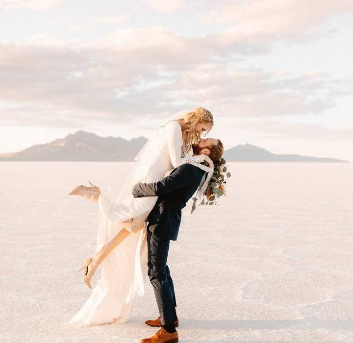 Unique and Intimate Salt Flats Elopement Inspiration