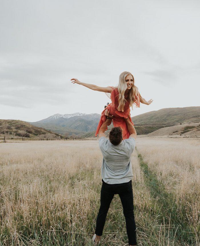 Lovely Utah Canyon Engagement