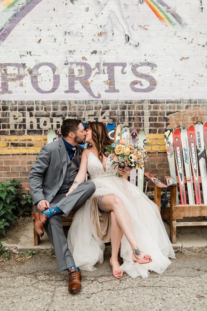 Quirky Wedding at the Salida SteamPlant Event Center