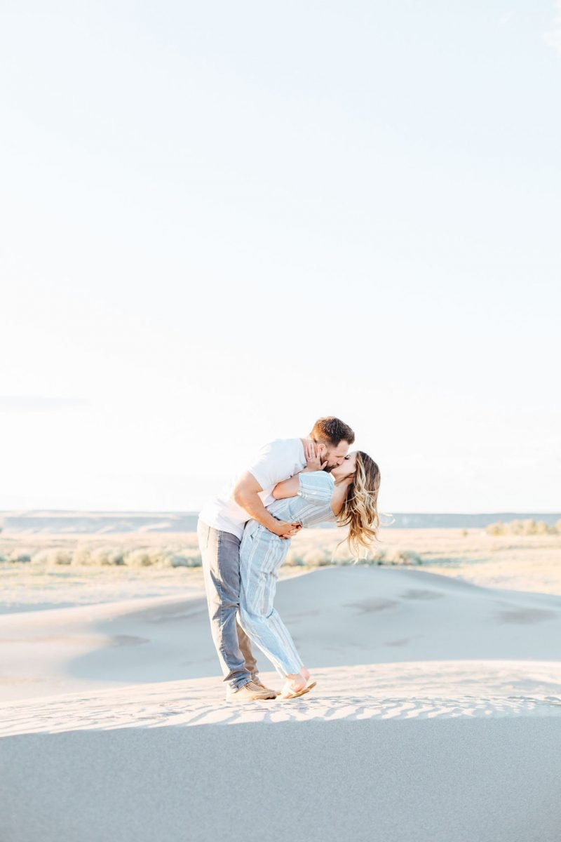 Radiant Bruneau Sand Dunes Engagement Session