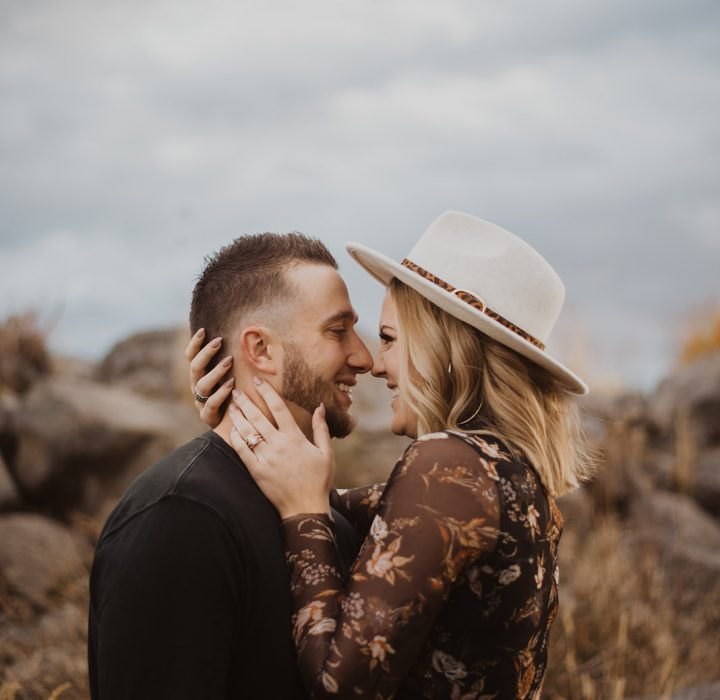 Sweet Fall Idaho Engagement