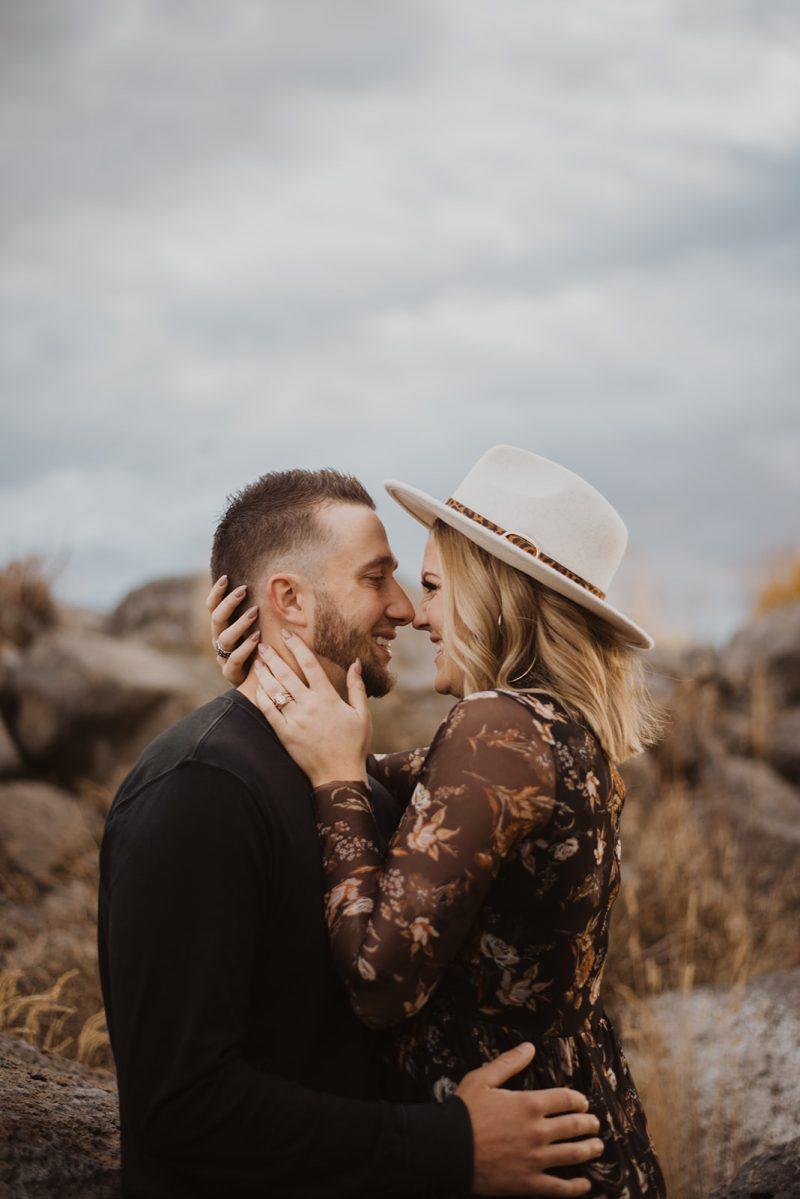 Sweet Fall Idaho Engagement