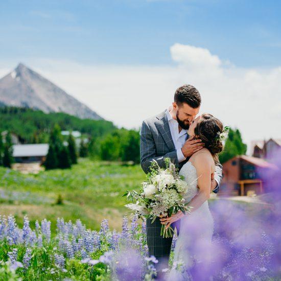 Vibrant Crested Butte Mountain Resort I Do's