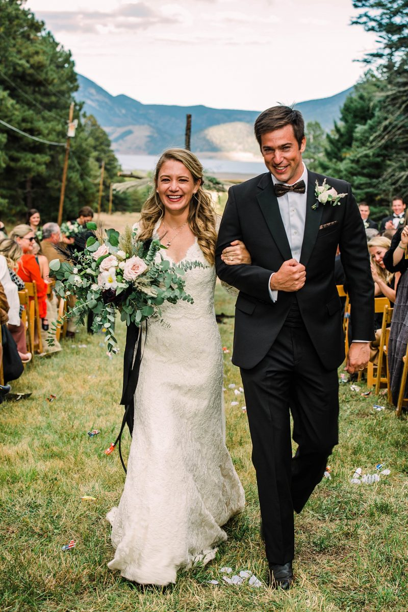 Bright Fall Wedding at Angel Fire Country Club