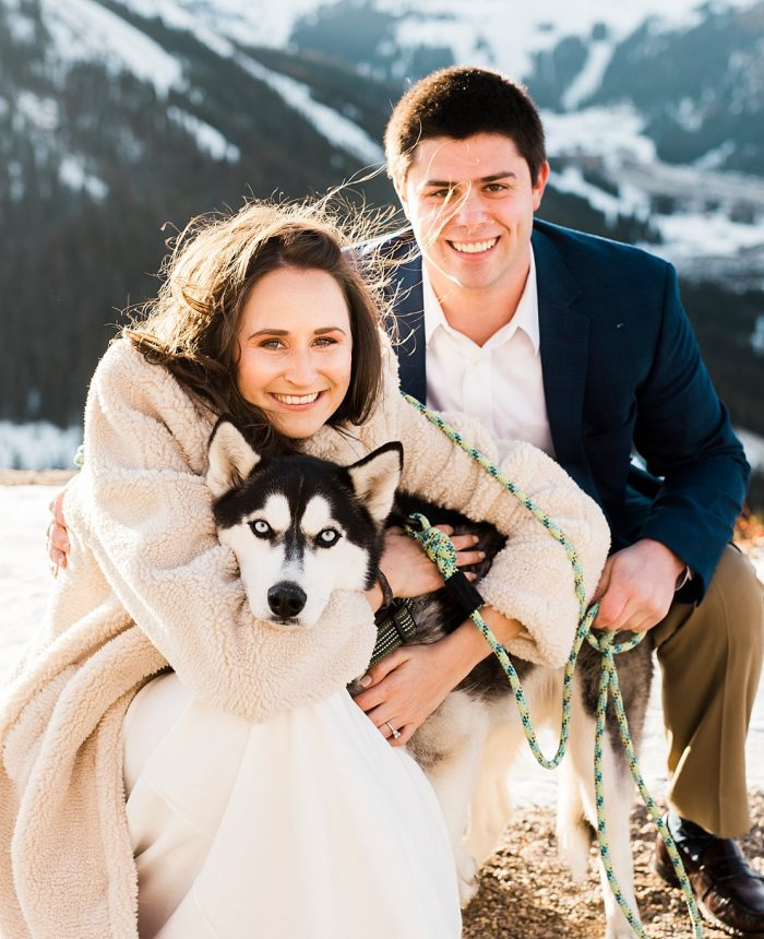 Glowing, Snowy Mountain Engagement Session