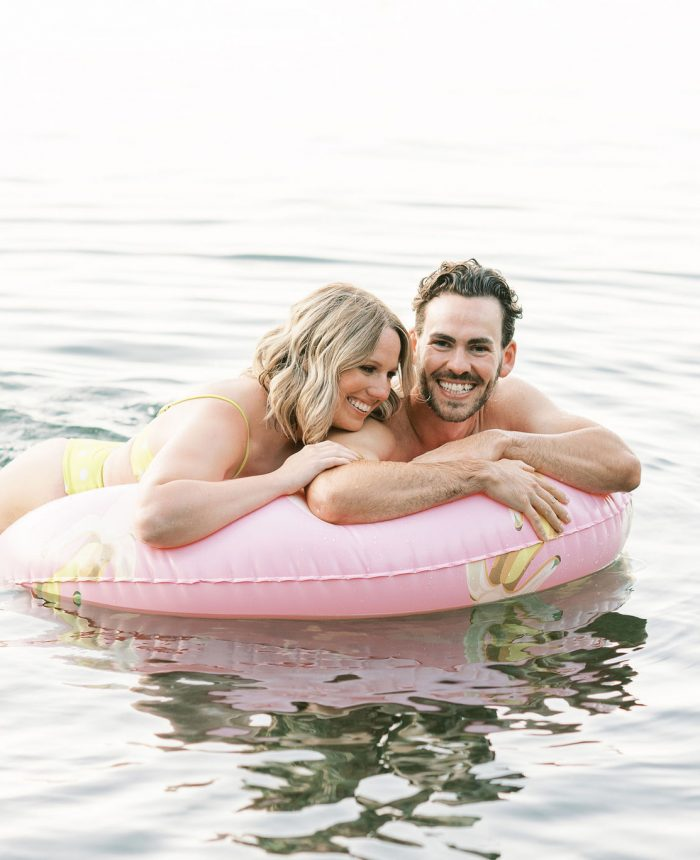 Splish, Splash in Kelowna Lake | Tips for Capturing Creative Engagement Photos