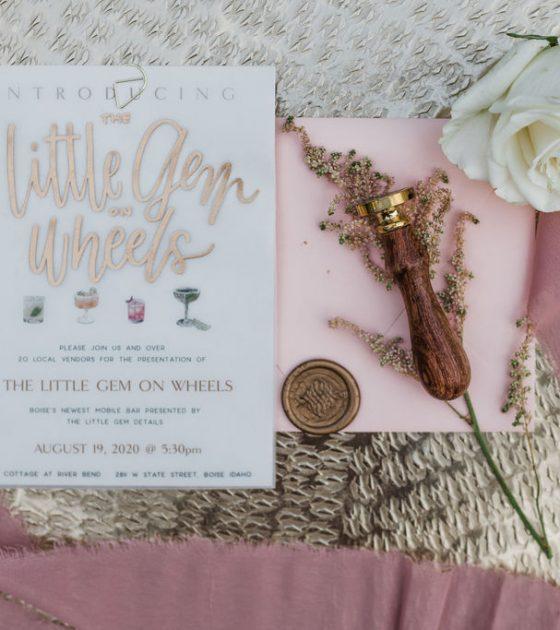 Romantic Blush Pink Garden Party Wedding Inspiration