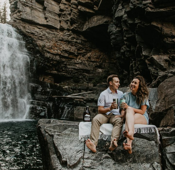 Playful Cranbrook Waterfall Engagement