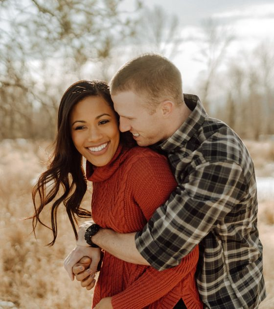Cozy Montana Winter Engagement