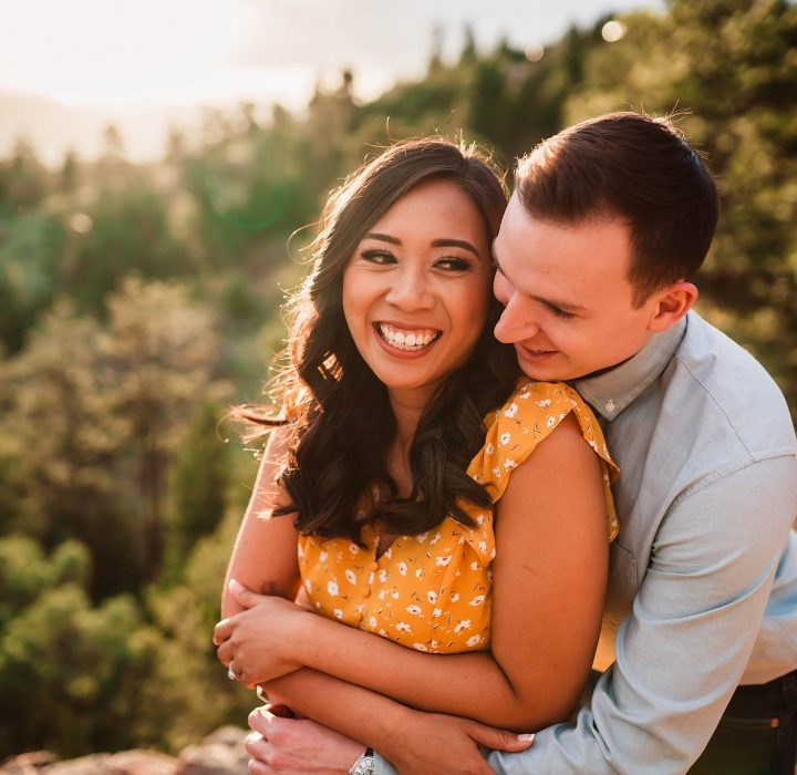 Darling Golden Engagement at Mount Falcon Park