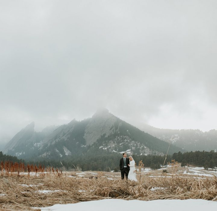 Foggy Winter Boulder Bridals