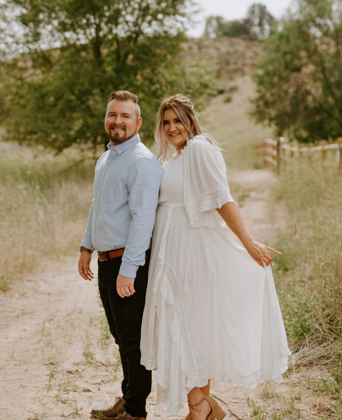 Romantic Boise Foothills Engagement