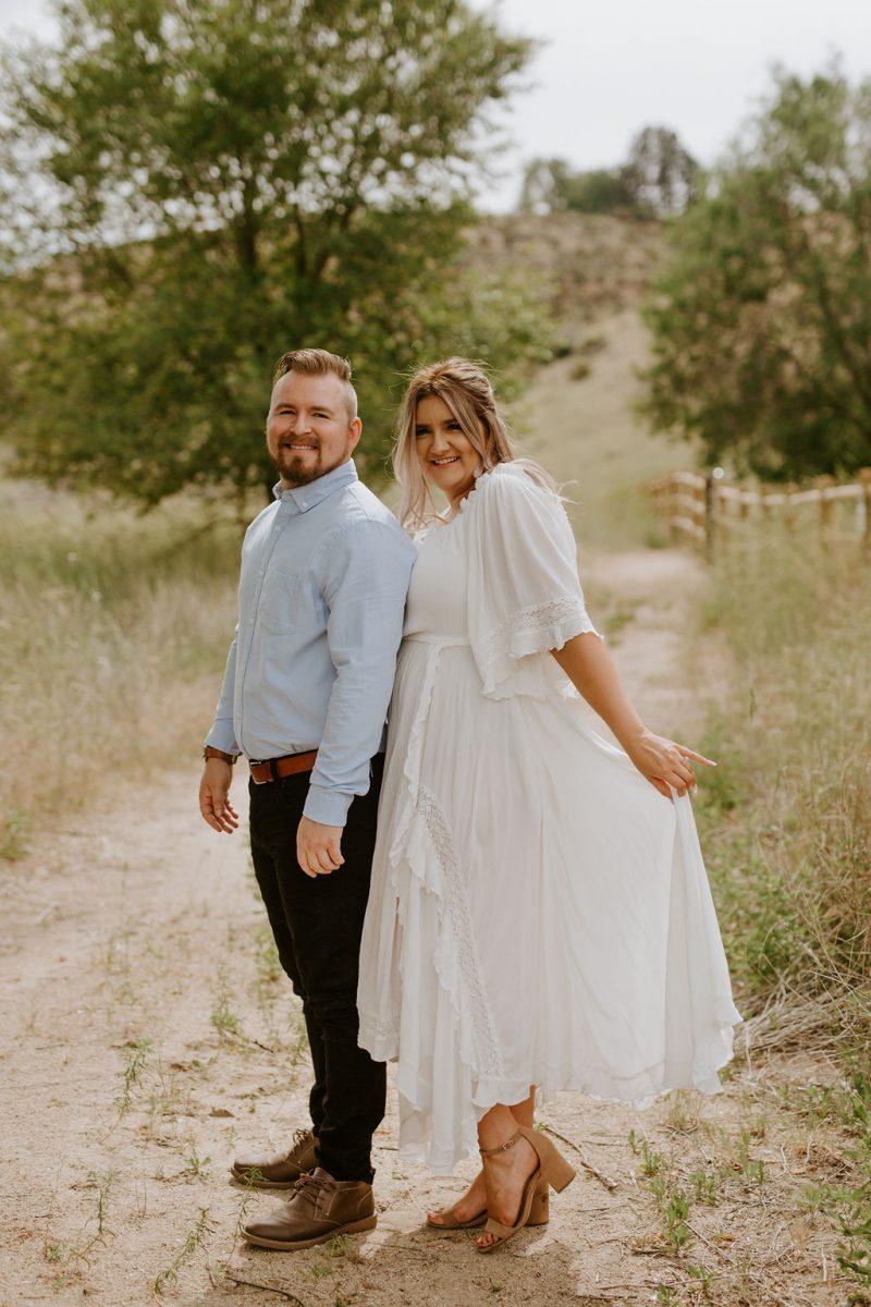 Romantic Boise Foothills Engagement