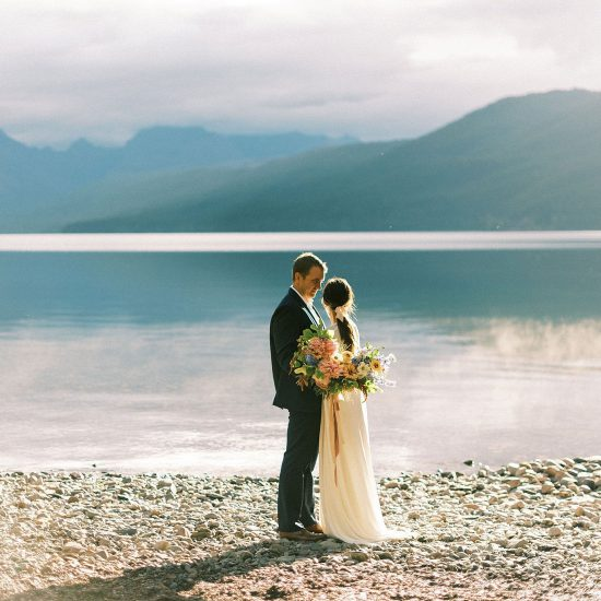 Refined Glacier National Park Floral Elopement Inspiration