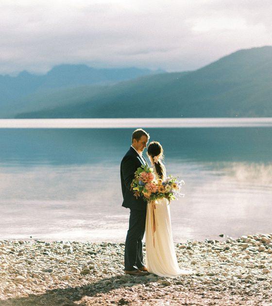 Refined Glacier National Park Floral Elopement Inspiration