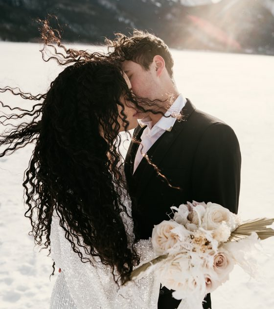 Clean and Crisp Winter Elopement Inspiration