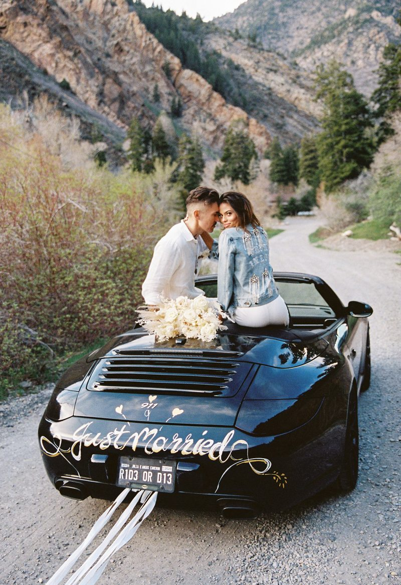 Edgy and Romantic Big Cottonwood Canyon Elopement