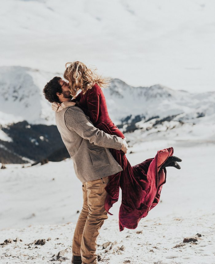 Snowy and Vibrant Loveland Pass Engagement