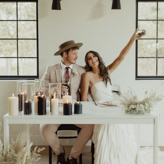 Edgy and Modern Elopement Inspiration at the Lofthouse