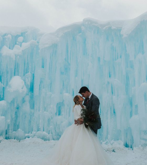 Frozen Fairytale Elopement Inspiration at the Dillon Ice Castles