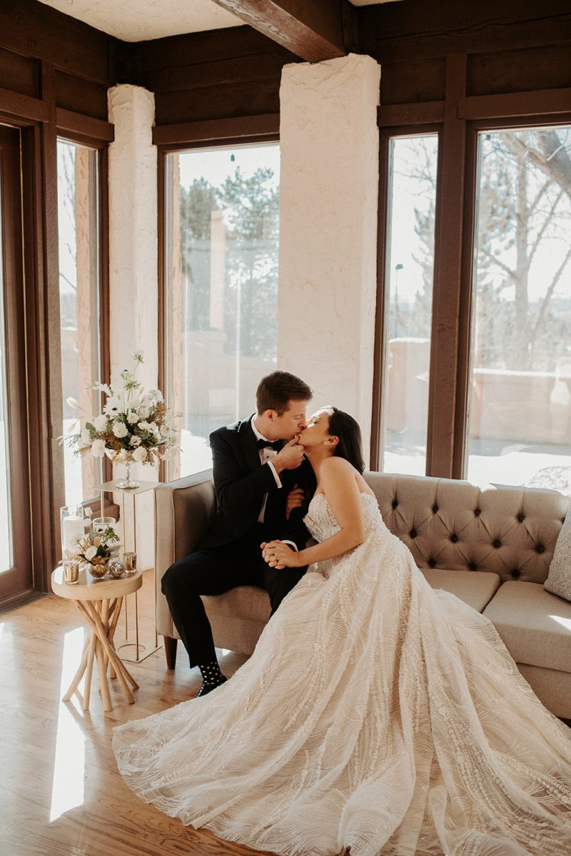 New Year's Eve Elopement Inspiration at Villa Parker