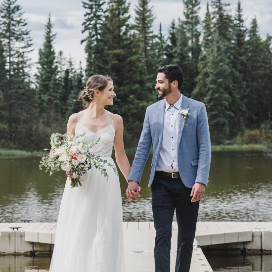 Intimate Outdoor Rocky Mountain House Wedding