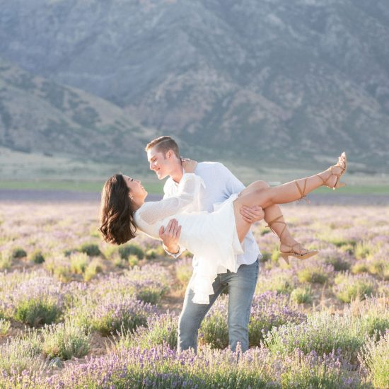 Light and Sweet Lavender Field Engagement