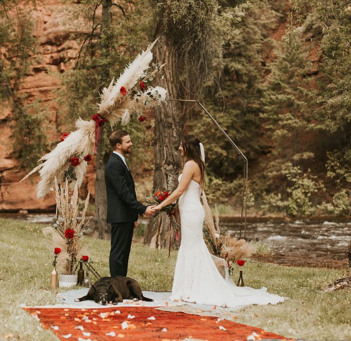 Magical Riverside Basalt Elopement