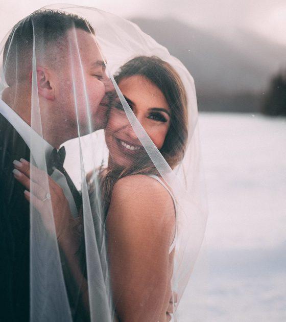 Magical Snowy Manning Park Resort Wedding