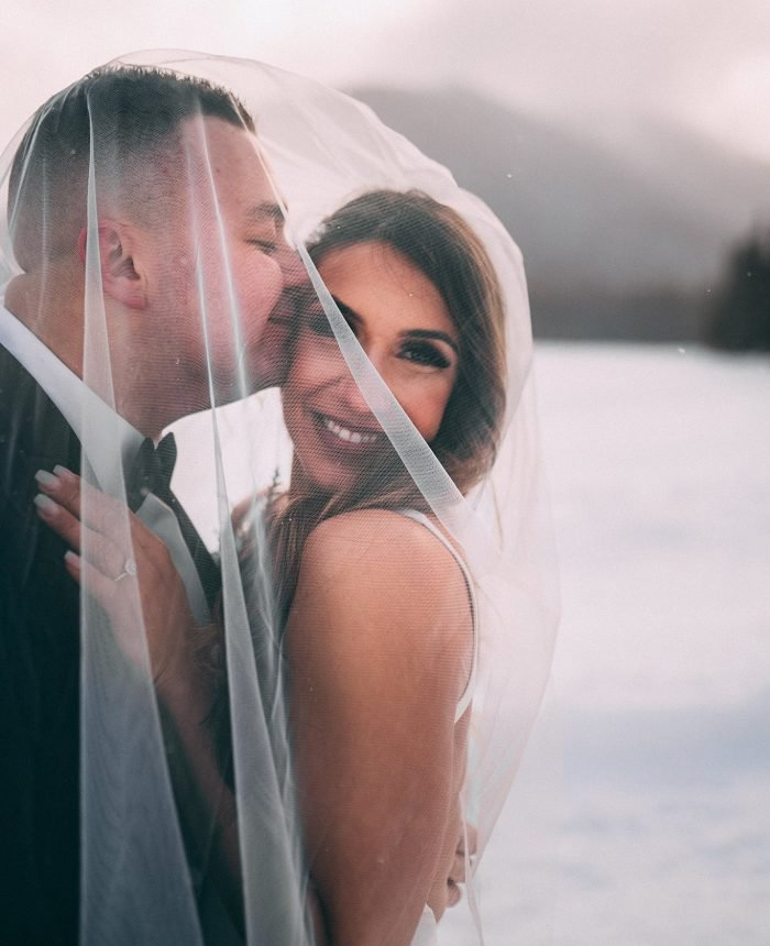 Magical Snowy Manning Park Resort Wedding