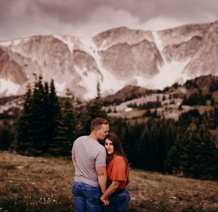 Picturesque Snowy Range Engagement