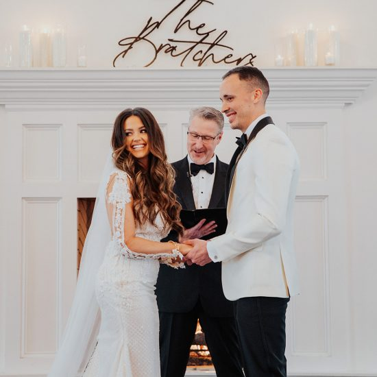 Regal Black and White Manor House Wedding