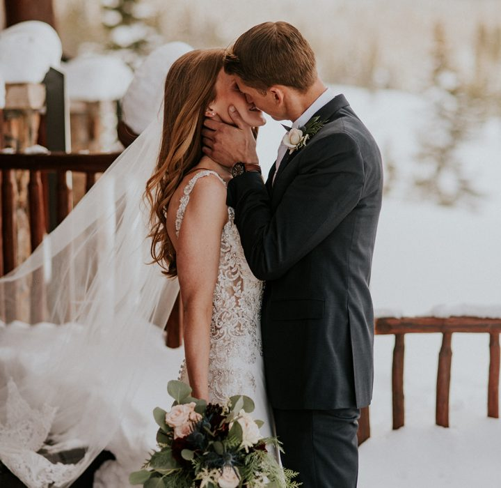 Snow-Kissed Grand Lake Winter Wedding