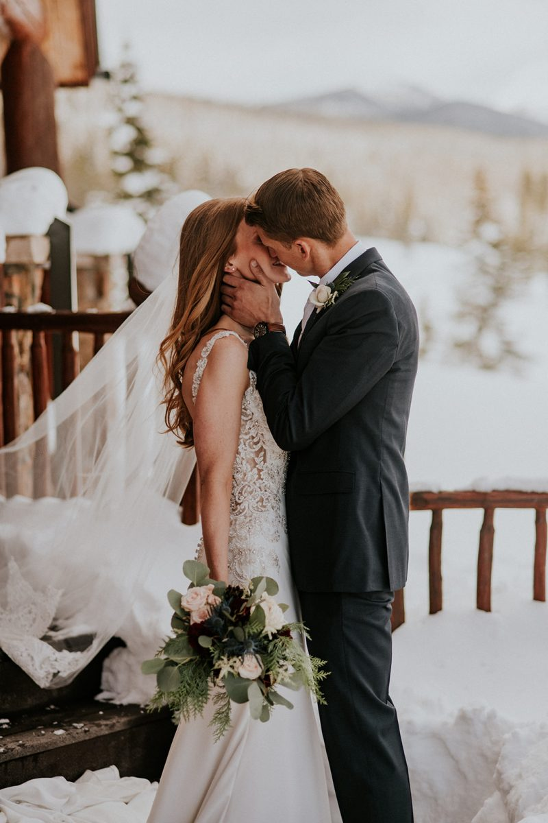 Snow-Kissed Grand Lake Winter Wedding