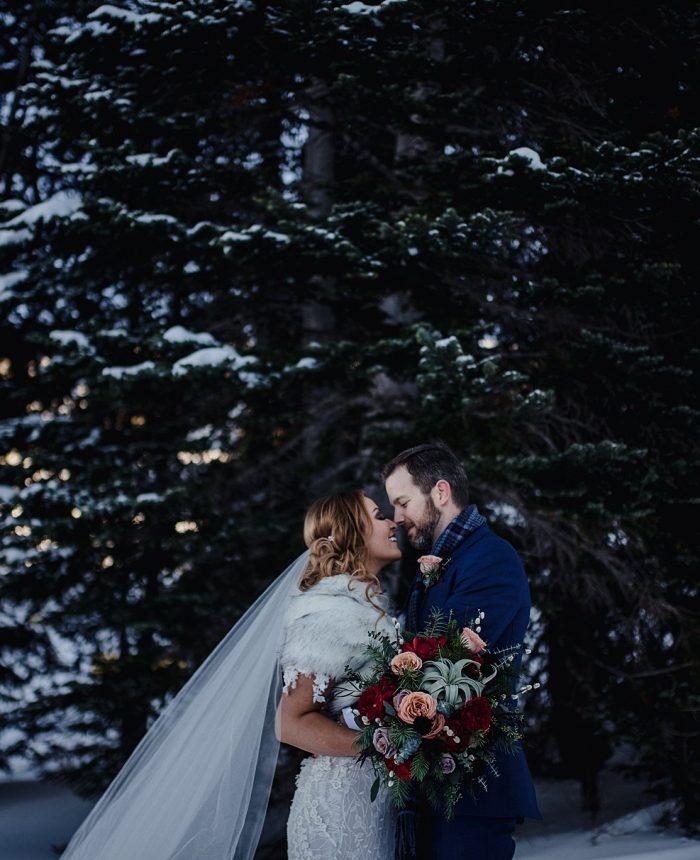 Snowy Vail Mountain Wedding