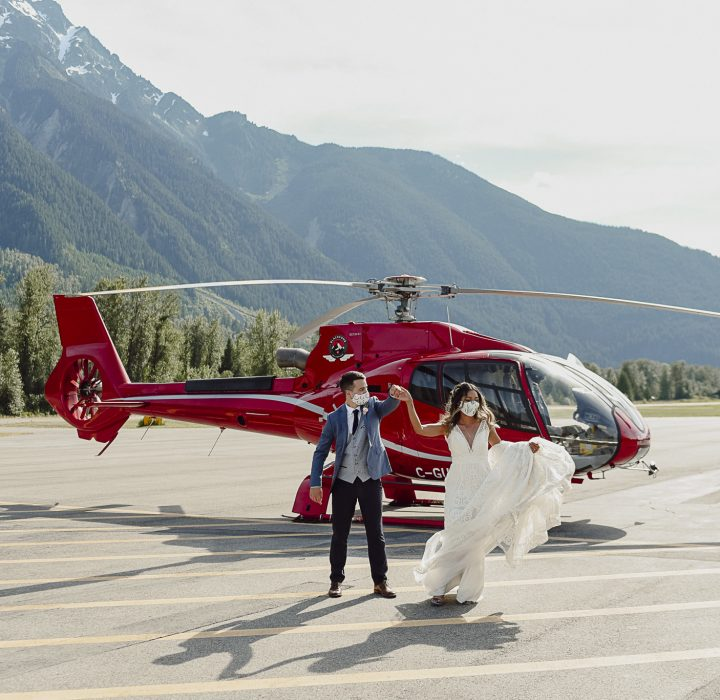 Charming Pemberton Helicopter Elopement Inspiration