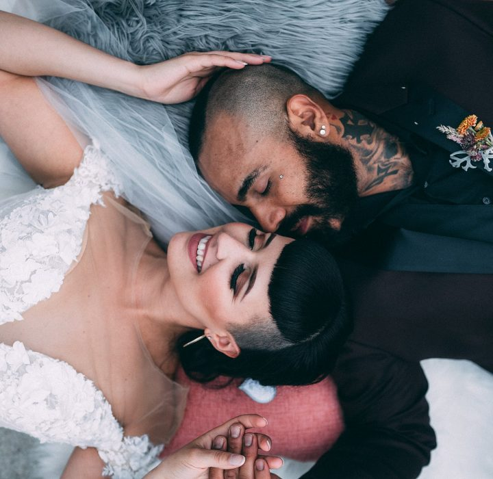 Edgy Wedding Inspiration at Redwoods Golf Course