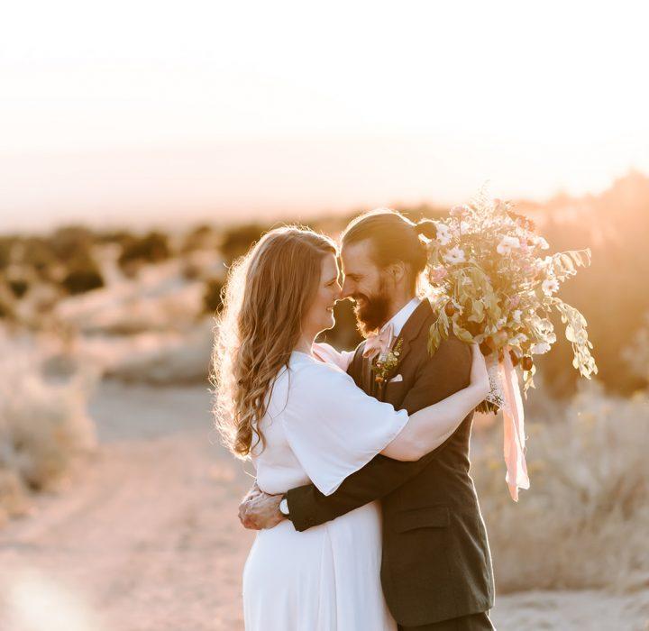 Lovely New Mexico Desert Elopement