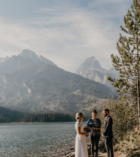 Minimal Adventure Grand Teton Elopement