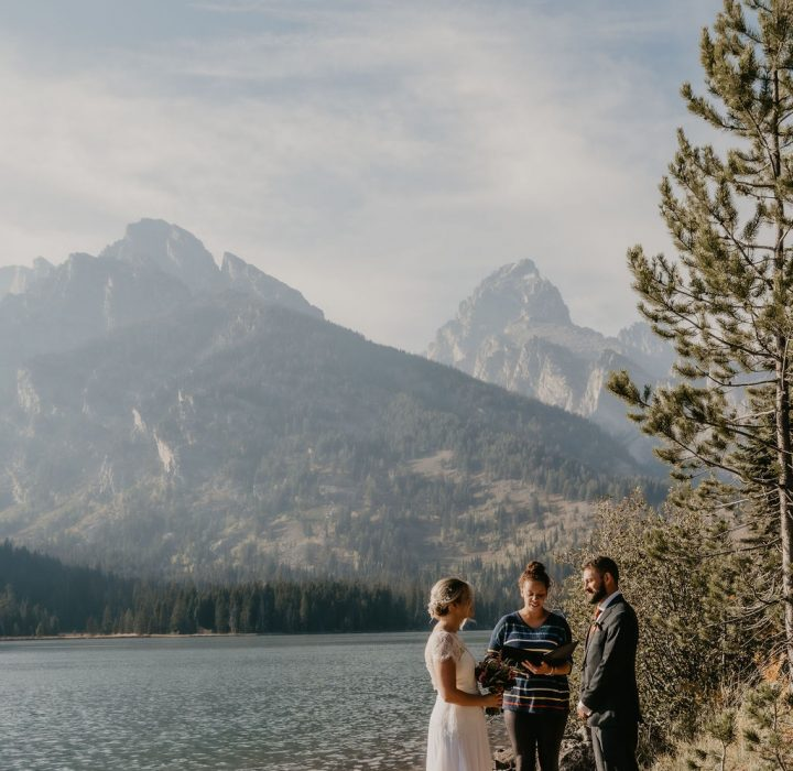 Minimal Adventure Grand Teton Elopement