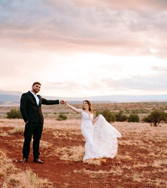 Stunning and Passionate Abiquiu Bridals