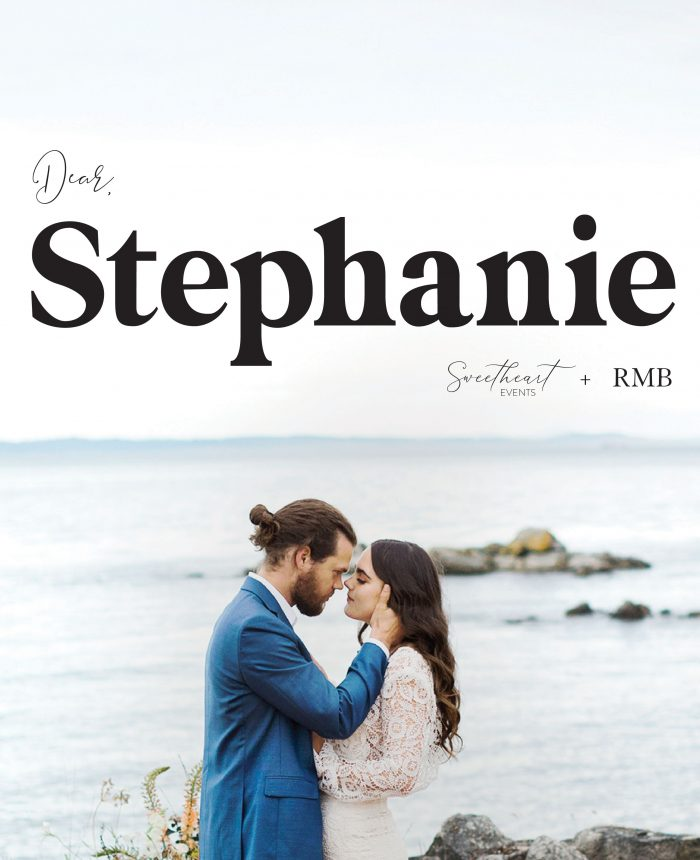 Dear Stephanie: How to Tell Your Family You Want a Smaller Wedding