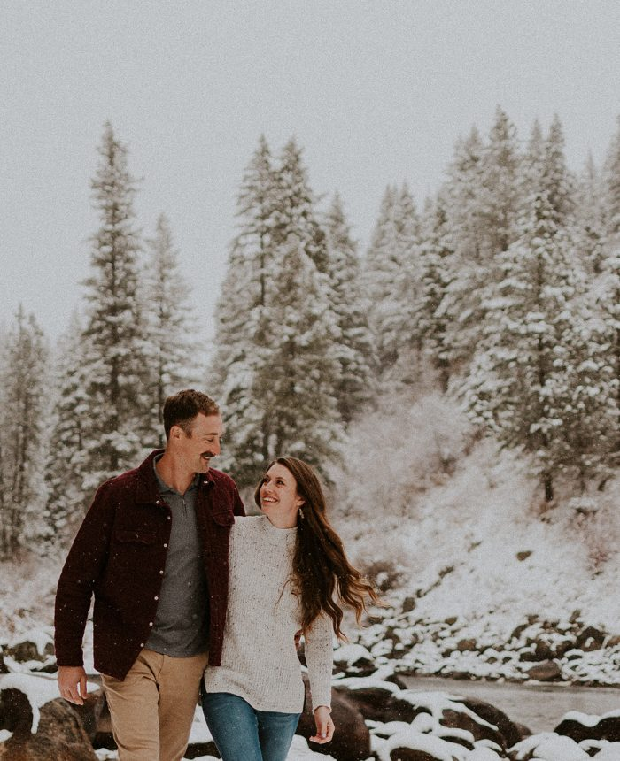 Adventurous Winter Idaho Engagement