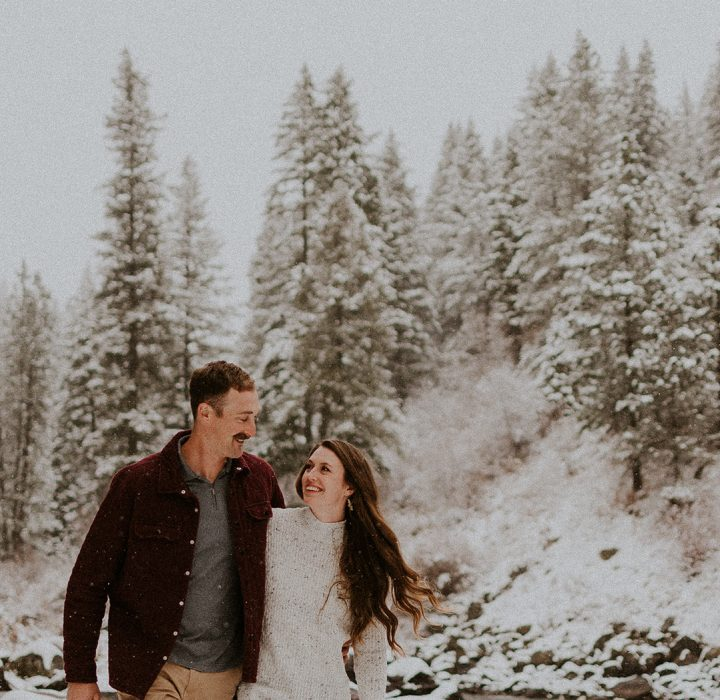 Adventurous Winter Idaho Engagement