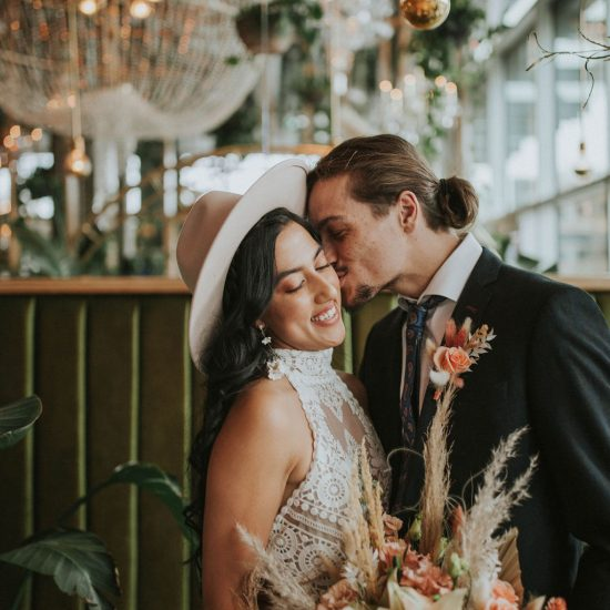 Bohemian Coral Crush Elopement Inspiration