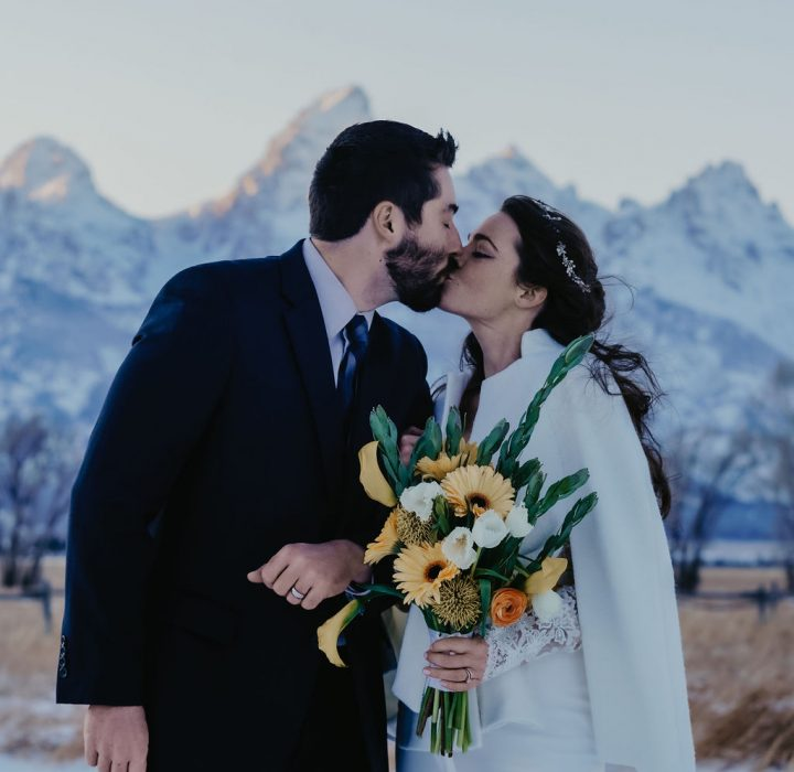 Charming Frosty Grand Teton Elopement