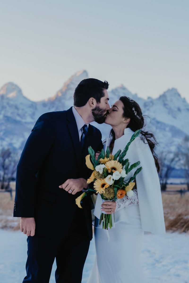 Charming Frosty Grand Teton Elopement