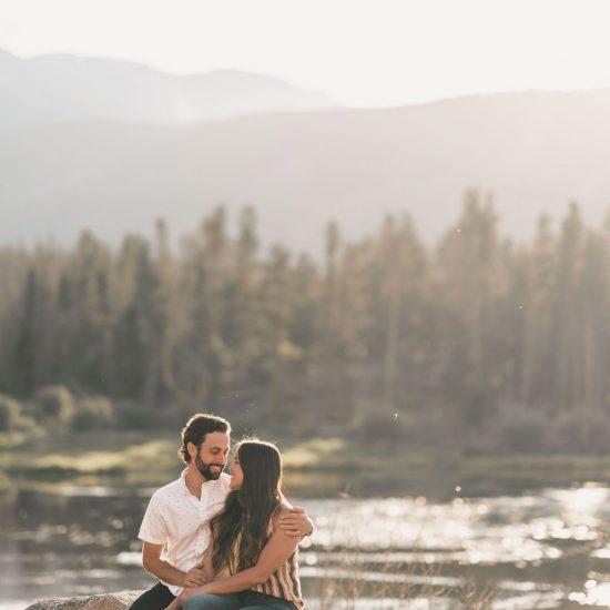 Classic Lakeside Engagement at Sprague Lake