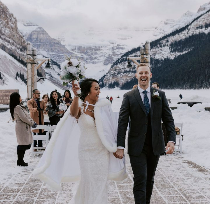 Winter Elopement at the Fairmont Chateau Lake Louise